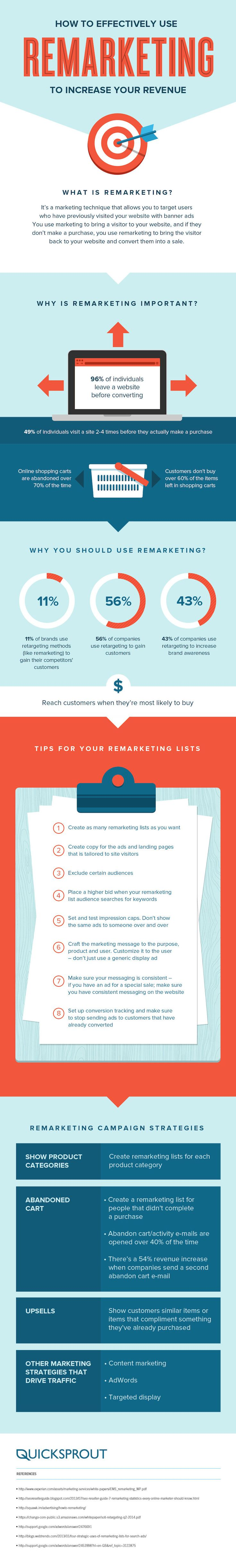 How to Effectively Use Remarketing to Increase Your Revenue - #infographic #advertising #marketing