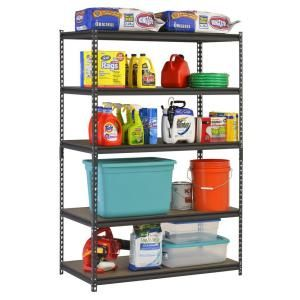 Edsal, 48 in. W x 72 in. H x 24 in. D Steel Commercial Shelving Unit, UR-245WGB at The Home Depot - Mobile