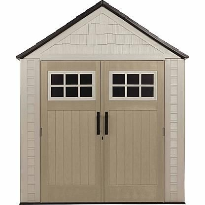 Rubbermaid Outdoor Resin Storage Shed, 7' x 7'