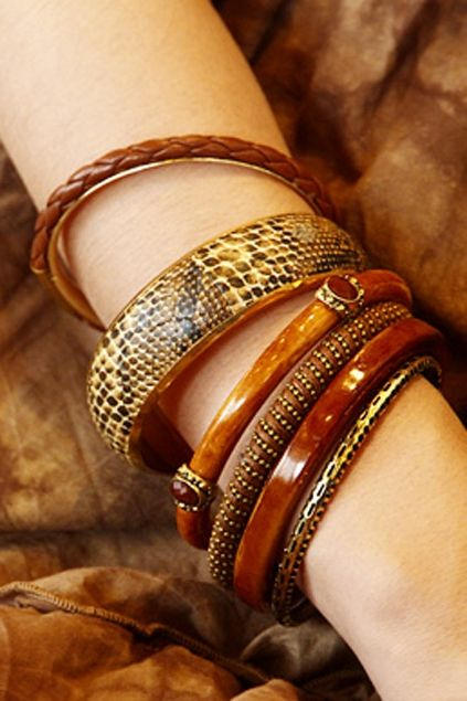 The bangle set include multi style bangle, fashion and easy matching.$21