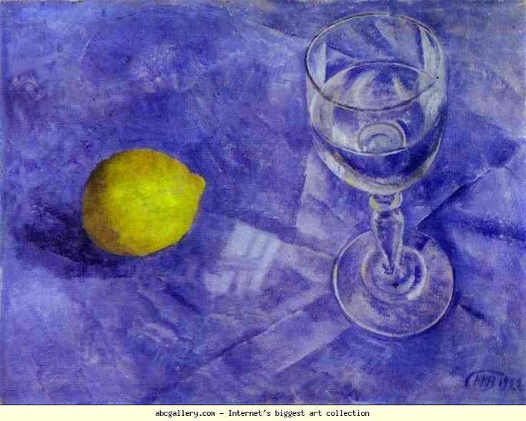 Kuzma Petrov-Vodkin. Lemon and Glass.