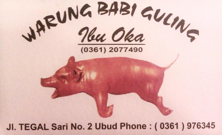 Babi Guling Ibu Oka @ Pasar Ubud, Ubud Palace, Bali. FANTASTIC FOOD