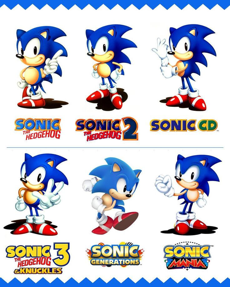 The Classic Sonic The Hedgehog years from Sonic The Hedgehog (1991) to Sonic Mania (2017).