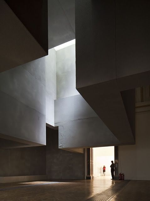 "enochliew: ""Sensing Space installation by Grafton Architects Light is the driving force for this sculpture that hangs overhead. """