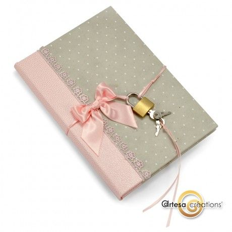 Journal Intime Noeud Rose et Pois http://www.artesa-creations.com/product.php?id_product=1532  #romantique #madeinFrance