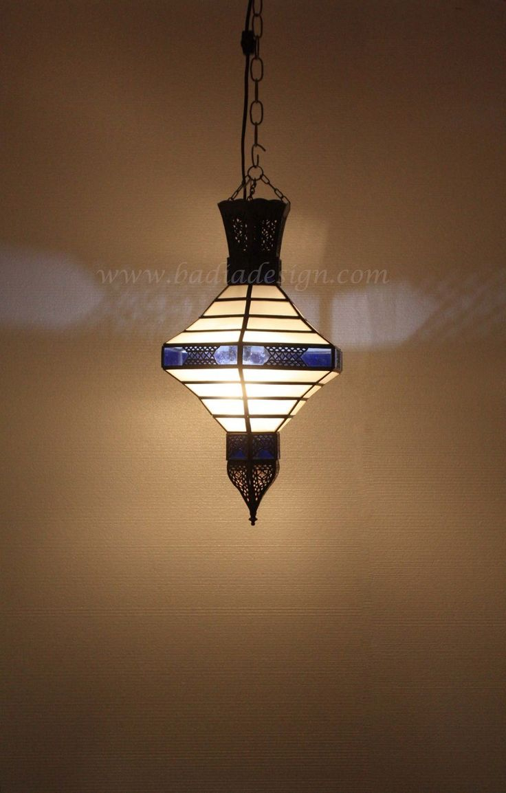 Multi Color Lantern With Soft White Glass