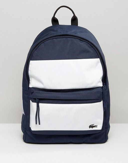 Lacoste Backpack In Colour Block