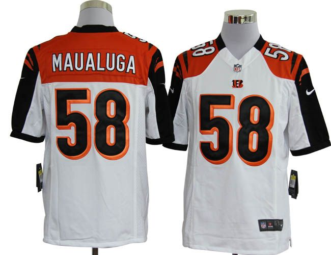Nike NFL Jerseys Cincinnati Bengals Rey Maualuga #58 White  Reliable online store for cheap NIKE NFL Cincinnati Bengals  Jerseys, 2012 New collection, top quality with most favorable price. please click: http://digjersey.com/nike-nfl-jerseys-cincinnati-bengals-c-129_133.html