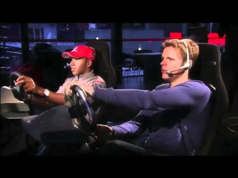 Lewis Hamilton plays F1 2010 with brother Nic Hamilton and Jake Humphrey (BBC F1) - YouTube