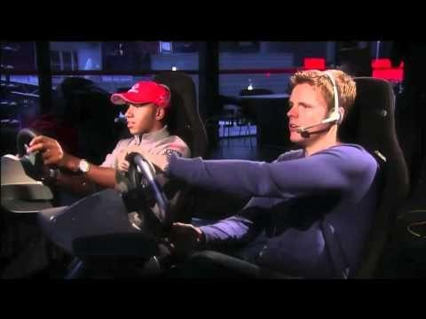 Lewis Hamilton plays F1 2010 with brother Nic Hamilton and Jake Humphrey (BBC F1) - YouTube