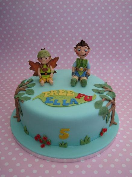 Tree Fu Tom cake  Cake by Deborah Cubbon (the4manxies)