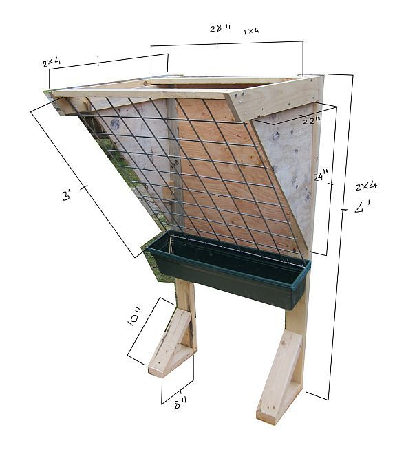No Waste Goat Feeder Plans | Hay Manger Plans