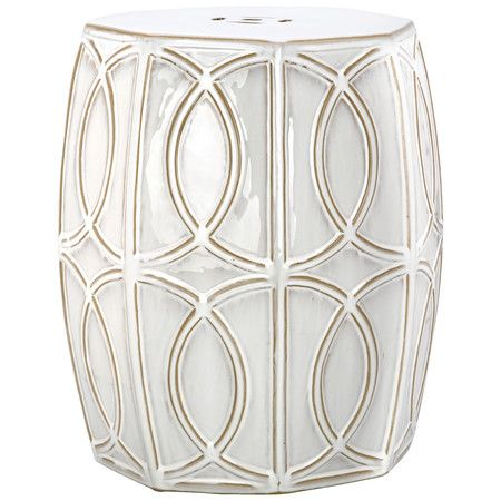 Perfect As An Extra Seat In The Den Or For Placing Your Latest Read In The  Sunroom, This Chic Ceramic Garden Stool Showcases An Openwork Basketweave  Design ...