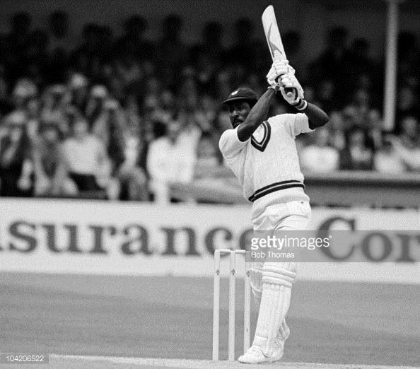 News Photo : Viv Richards batting for the West Indies against...