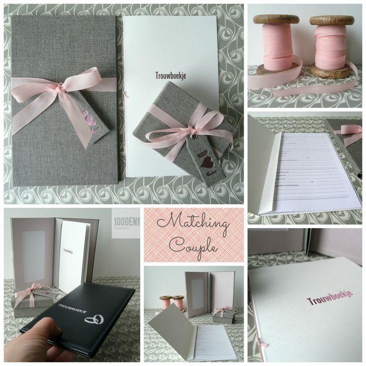 Een trouwboekje met ringendoosje