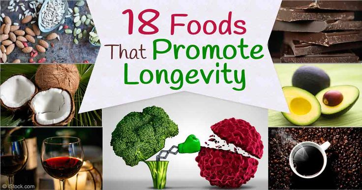 Here are 18 amazing foods packed with health-promoting compounds like antioxidants, vitamins, and minerals known to play a role in longevity. http://articles.mercola.com/sites/articles/archive/2016/01/04/foods-for-longevity.aspx