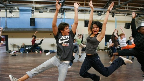 Zanessa - High School Musical 2 (Behind the Scenes) - zac-efron-and-vanessa-hudgens Photo