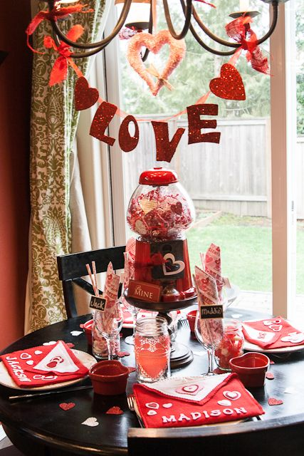 Valentine 39 s day dinner table setting great ideas for Good valentines day meal ideas