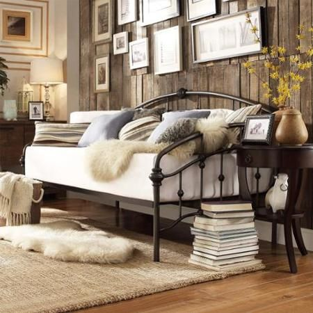 INSPIRE Q Lacey Round Curved Double Top Arches Victorian Iron Metal Daybed - Walmart.com $383.