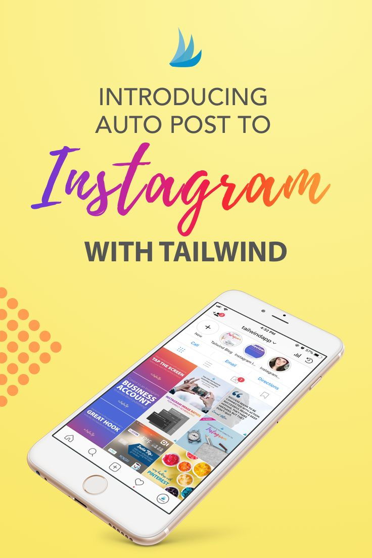 What we've all been waiting for! Instagram now let's 3rd party apps POST FOR YOU! No more notifications, you just set it and forget. Tailwind is one of Instagram's trusted partners!