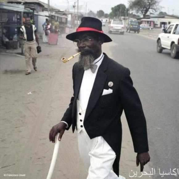 A man with SWAG!   Johnie Walker - or Black & White...