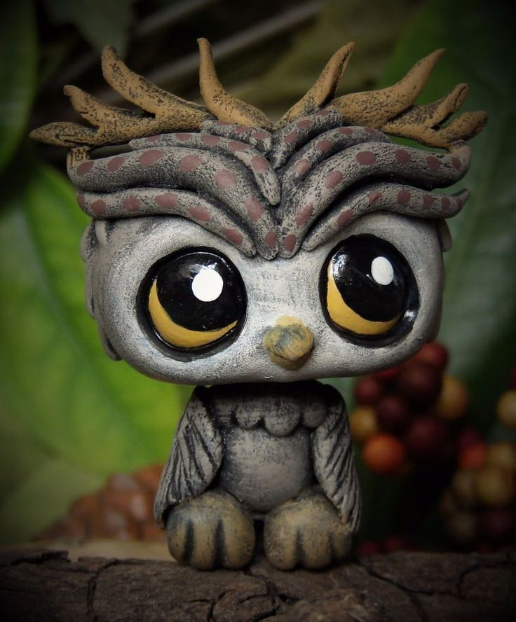 Littlest Pet Shop chibi Owl Faun Forest Spirit OOAK custom figure LPS #Hasbro