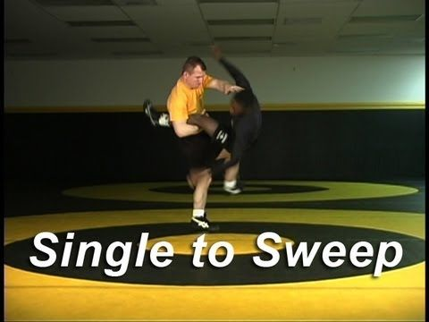 Single Leg to Sweep Finish KOLAT.COM Wrestling Techniques Moves Instruction