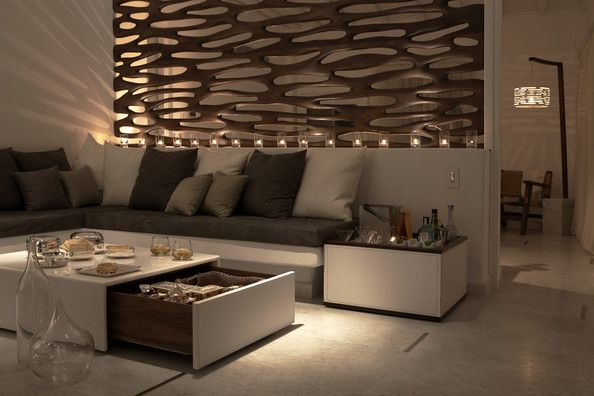Living Room Modern - The ambiance is crazy amazing.