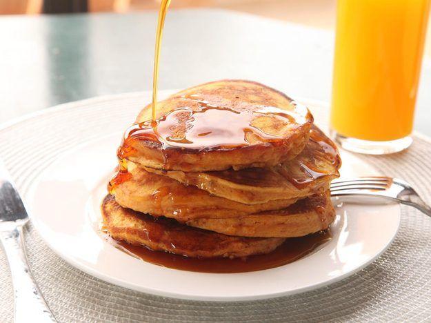 Sweet Potato Pancakes (made with leftover mashed sweet potatoes!)