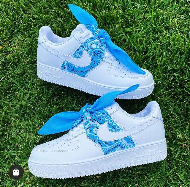Bandana Air Force 1's en 2020 Zapatos nike mujer