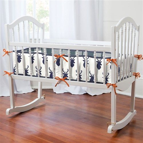 Navy Woodland Cradle Bedding | Carousel Designs