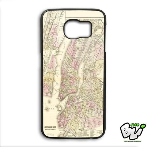 Vintage New York Map Samsung Galaxy S6 Edge Plus Case