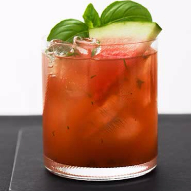 Basil Watermelon Cooler -from GreyGoose.com This crisp combination of ...