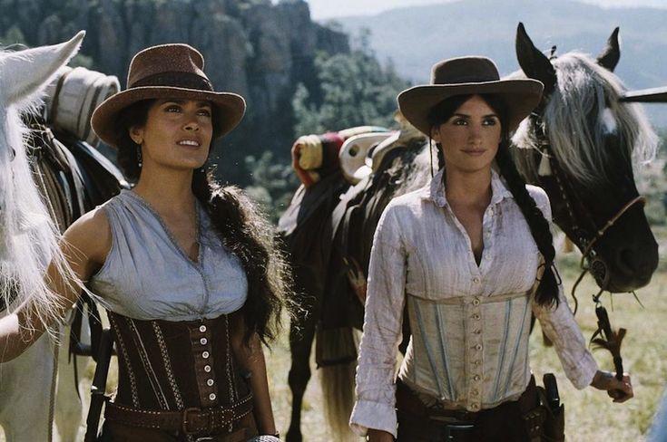 Literally The 2 Bandits, Salma Hayek and Penélope Cruz, in Bandidas (2006)