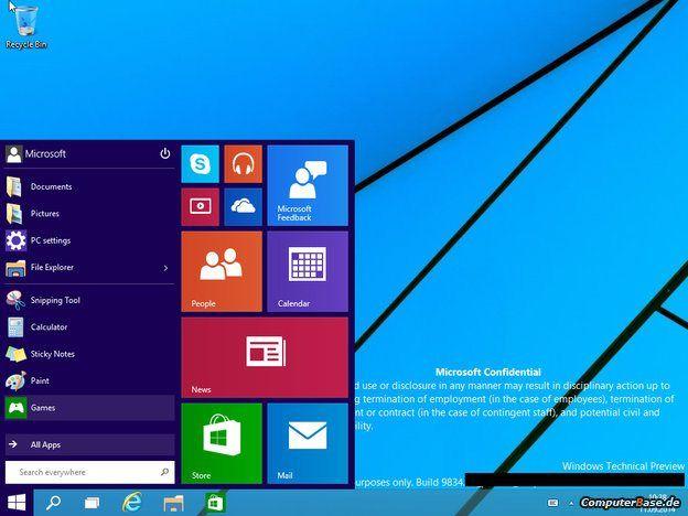 Microsoft Windows işletim sisteminin yeni sürümünden ilk görüntüler!