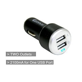 Charge your phone or devices while you are in the car with this dual USB car charger.
