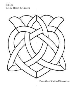 Celtic Heart Stained Glass Pattern From Our Members Club