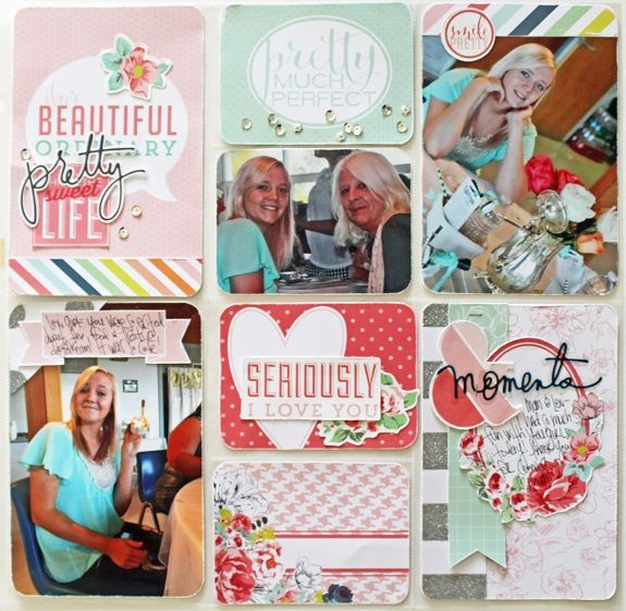 Free PDF download! Print and save directions to make this page featuring the September Skies Project life Kit designed by Heidi Swapp.