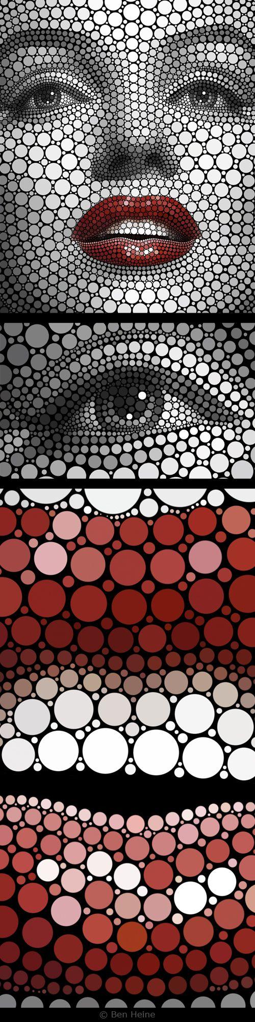 Ben Heine~Digital Circlism