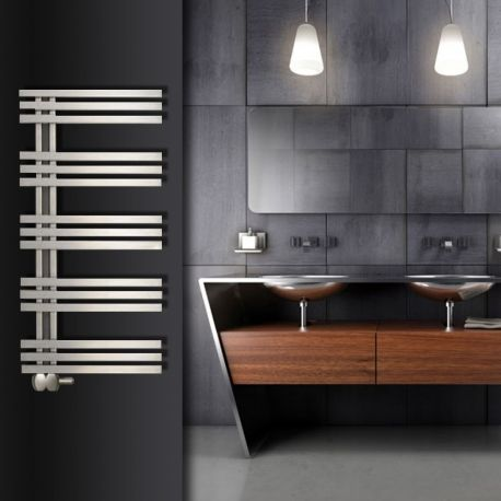 "Aeon ""Tempest"" Designer Brushed Stainless Steel Towel Rails (3 Sizes) - NWT Direct"
