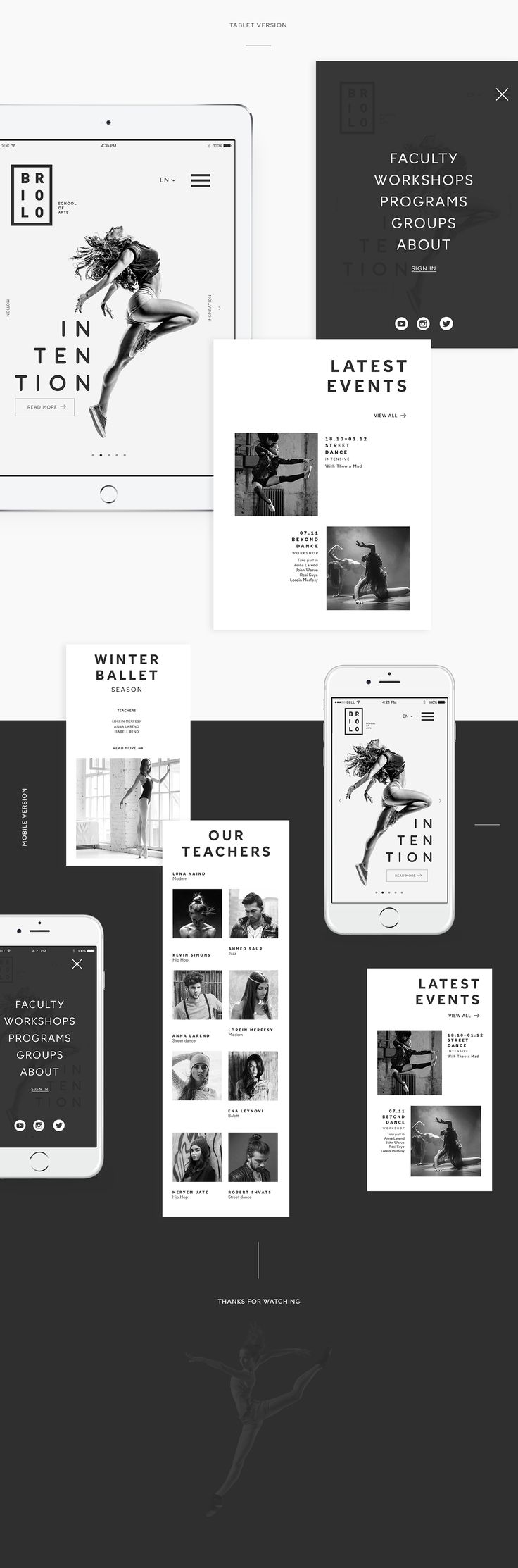 Briolo   Website concept on Behance
