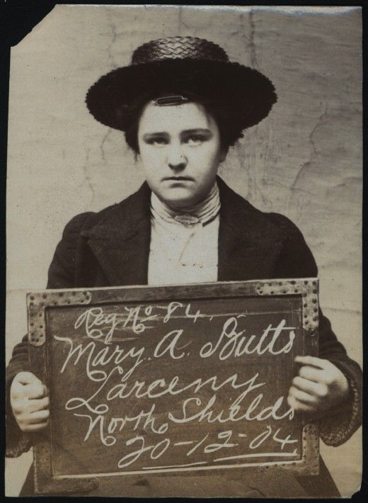 Criminal Women of North Shields Name: Mary A Butts Arrested for: Larceny Arrested at: North Shields Police Station Arrested on: 20th December 1904 Tyne and Wear Archives ref: DX1388-1-35-Mary A Butts These images are a selection from an album of photographs of prisoners brought before the North Shields Police Court between 1902 and 1916 in the collection of Tyne & Wear Archives (TWA ref DX1388/1). Copyright) We're happy for you to share this digital image within the spirit of The Commons…