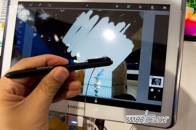 Samsung Galaxy Note 10.1; Big S Pen with an eraser, S Note as well as S Memo, multi-screen, phone and two Abode graphic apps