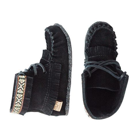 Concho High Top Moccasins - mini mioche - organic infant clothing and kids clothes - made in Canada