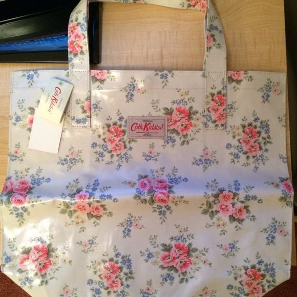 Cath Kidston Pinny Floral open carry all tote bag New, never used. Snap closure. Pocket inside.  NO TRADES  NO PP  Cath Kidston Bags Totes