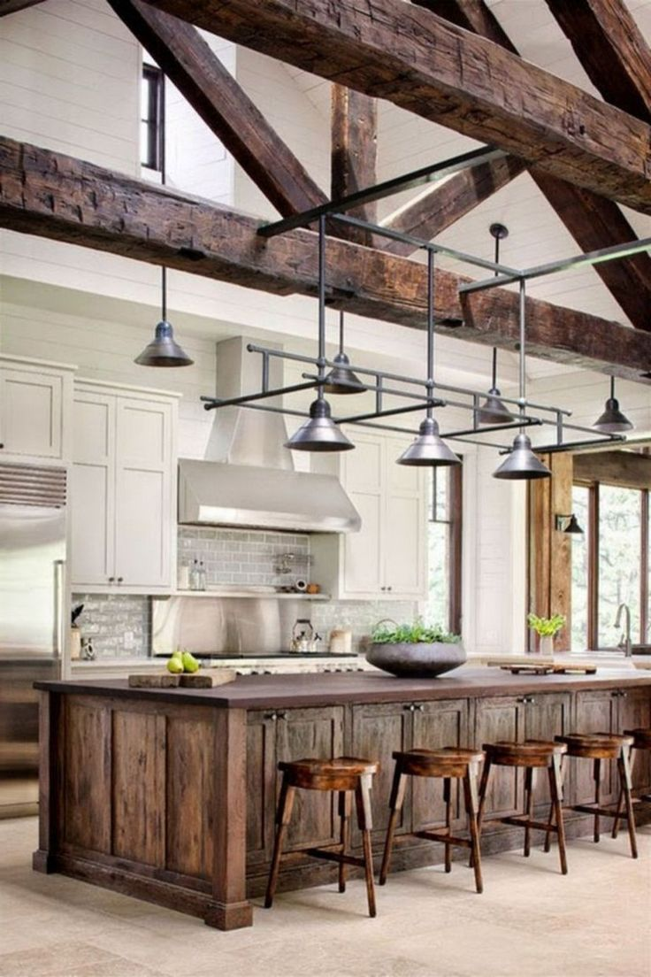 44 stunning rustic mountain farmhouse decorating ideas modern farmhouse kitchens farmhouse on kitchen remodel modern farmhouse id=79118
