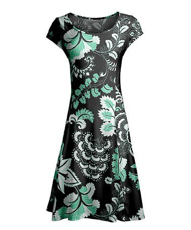 bc37ccd40ce Lily Black Floral Scoop Neck Dress