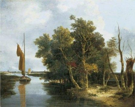 Wherries on the Yare by John Crome