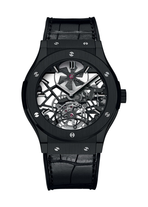 Classic Fusion Skeleton Tourbillon All Black Complicated watch from Hublot