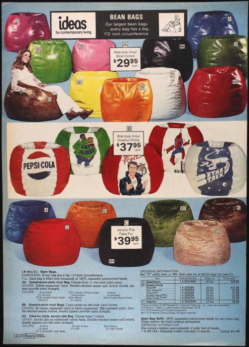 Who Doesnt Need A Fonz Bean Bag Chair Source The Sears Catalog Spring Summer